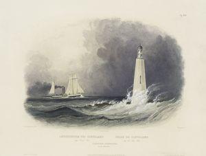 Leuchtthurm bei Cleveland am Erie See. Phare de Clevelandsur le Lac Erie. Cleveland Lighthouse on the Lake Erie.