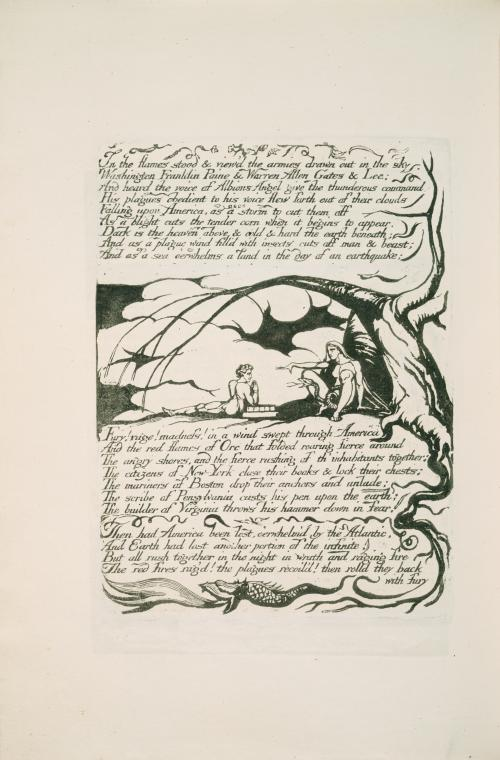 This is What William Blake and In the flames stood Looked Like  in 1793