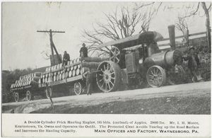 A double cylinder Frick Hauling Engine,  [...]. Main Offices and Factory, Waynesboro, PA.