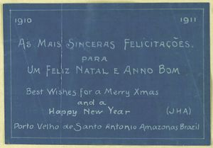 Best Wishes for a Merry Christmas and a Happy New Year, 1910-1911.