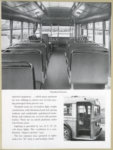[Yellow Transit Coach 32 - interior.]