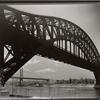 Hell Gate Bridge, inverted, Astoria, Queens.