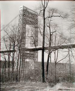 George Washington Bridge, Riverside Drive and 179th Street, Manhattan.