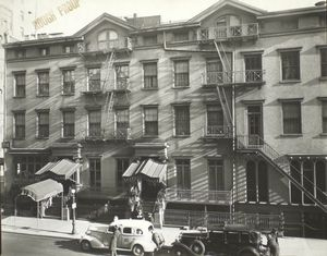 Lafayette Hotel, University Place and 9th Street, Manhattan.