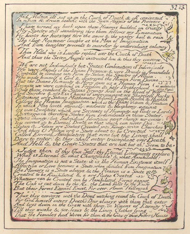 This is What William Blake and And Milton oft sat up Looked Like  on 1/1/1808