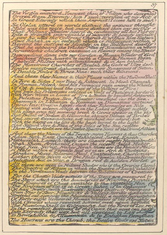 This is What William Blake and The Virgin answered Looked Like  on 1/1/1808