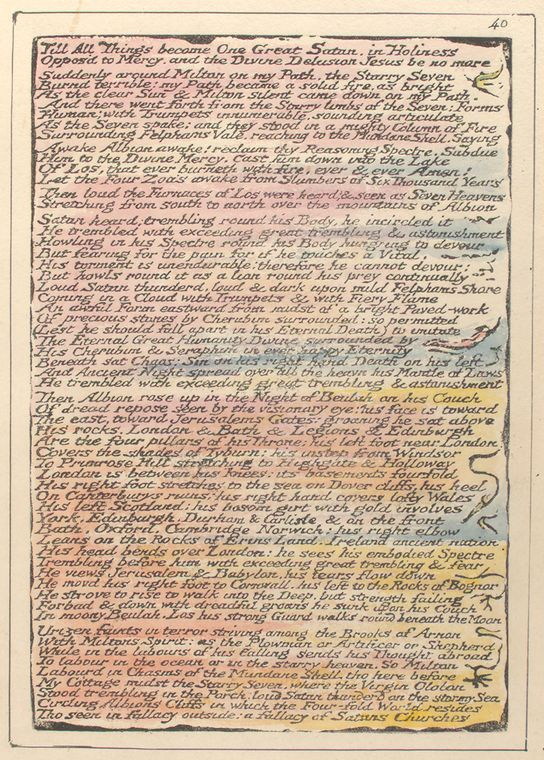 This is What William Blake and Till all things become One Looked Like  on 1/1/1808