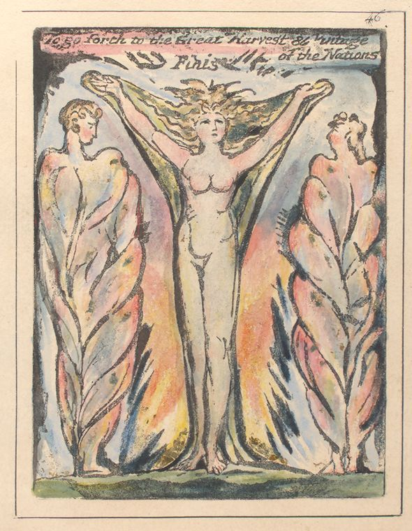 This is What William Blake and To go forth to the Great Harvest Looked Like  on 1/1/1808