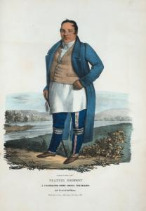 Francis Godfroy. A celebrated chief among the Miamis, half French & half Miami.