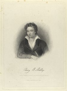 Percy B. Shelley. From an original picture in the possession of Mrs. Shelley.