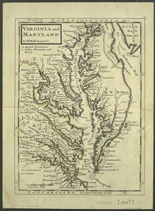 Virginia and Maryland / By H. Moll, geographer.