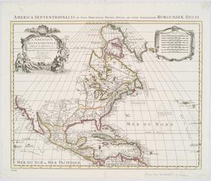 L'Amerique septentrionale : dressée sur les observations de Mrs. de l'Academie Royale des Sciences & quelques autres, & sur les memoires les plus recens / par G. de L'Isle.