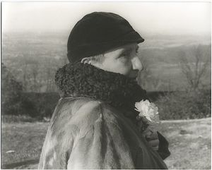 Gertrude Stein at Monticello (Charlottesville), February 4, 1935.