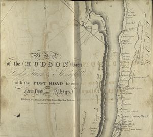 Map of the Hudson ... from Spuyten Duyvil to P. Livingston's.