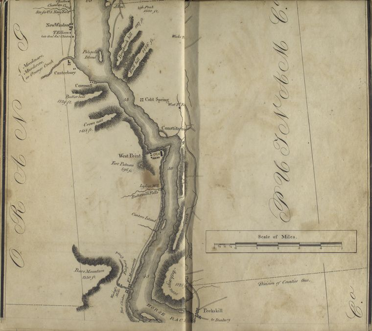 [Map of the Hudson ... from Peekskill to site of U.S. Naval Yard (Chambers Creek).]