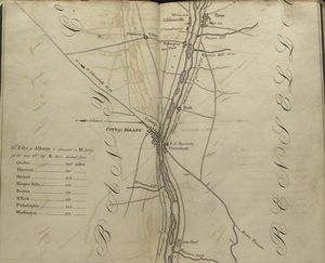 [Map of the Hudson ... from Castleton to Troy, including Albany.]