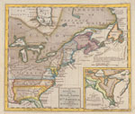 An accurate map of the British Empire in Nth. America as settled by the preliminaries in 1762.