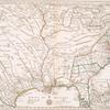 Carte de la Louisiane et du cours du Mississipi avec les colonies anglaises