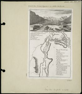 A perspective view of Lake George ; Plan of Ticonderoga.