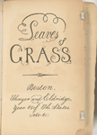 Leaves of Grass. Boston. Thayer and Eldridge, year 85 of the States. [1860-61] [Title page]