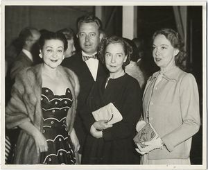 Lucille Lortel,Humphrey Doulens, Dorothy and Lillian Gish at the White Barn Theatre (Westport,Conn.) ca. 1950s.