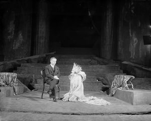 Max Reinhardt, director-producer & Lili Darvas as Titania.