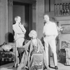 Ann Andrews (Julie), Haidee Wright (Fanny Cavendish) seated and Otto Kruger (Tony). Set designed by James Reynolds who also designed costume for Miss Wright.