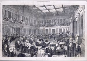 The Senate of the United States [First African American in the U.S. Senate.]