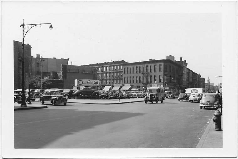 Bedford Avenue at Brevoort Place and Fulton Street,  to , Brooklyn