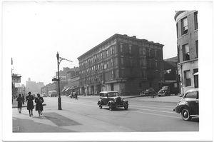 Fulton Street at Waverly Avenue,  to West, Brooklyn