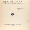More men of mark, [Title page]