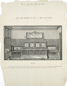 Bath room interior, by the J.L. Mott Iron works. Plate 3-D.