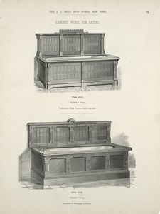 Cabinet work for baths. Plates 40-D and 41-D.