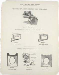 The Demarest patent side-outlet valve water closet. Plates 119-D to 124-D.