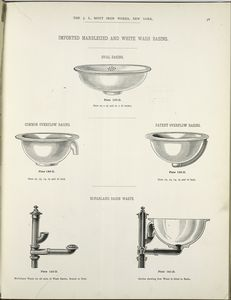 Imported marbleized and white wash basins. Plates 137-D to 141-D.