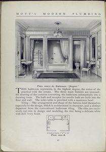 Plate 1000 1/2-A bathroom, Regent.