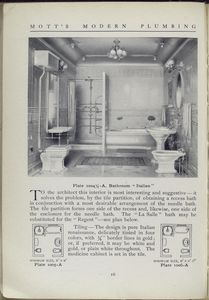 Plate 1004 1/2 - A. bathroom Italian.