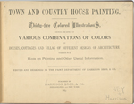 Town and country house painting. [Title page].