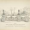 Wrought iron driveway and side gates, with lamps for gate posts. [Plate 306-N].
