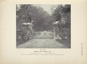 Wrought iron driveway gate. [Plate 315-N].