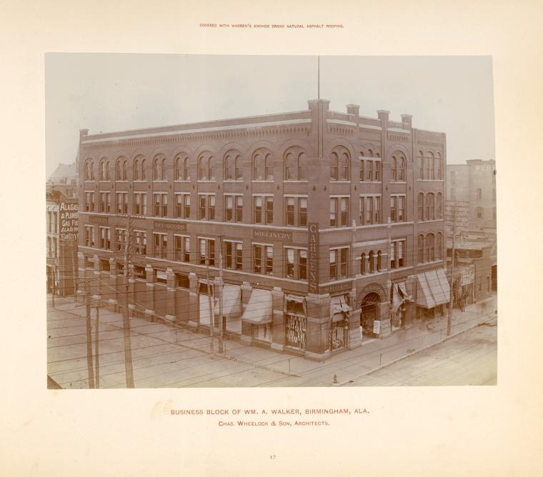 Business Block of Wm. A. Walker, Birmingham, Ala.