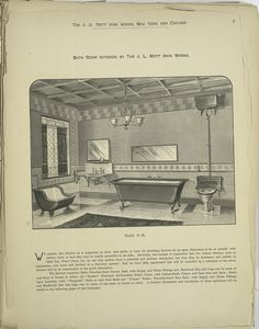 Bath Room Interior by the J.L. Mott Iron Works.