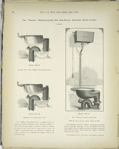 The 'Triplex,' Porcelain-Lined Iron Side-Outlet Wash-Out Water Closet.