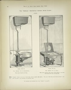 The 'Simplex,' Side-Outlet Cistern Water Closet. Patented.