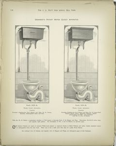 Demarest's Patent Water Closet Apparatus.