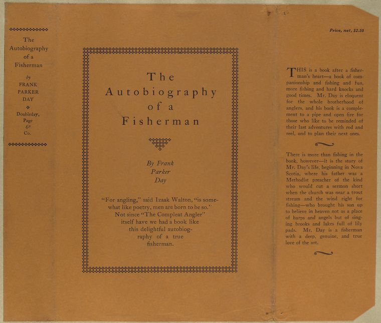 The autobiography of a fisherman, by Frank Parker Day.