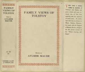Family views of Tolstoy.