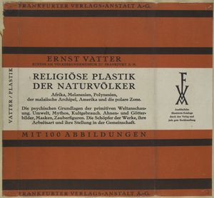 Religiöse Plastik der Naturvölker.