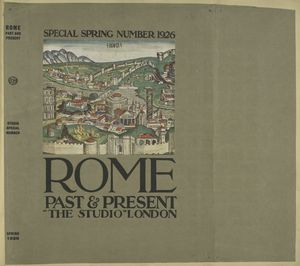 Rome, past and present. (Series: The Studio. Special number. 1926)