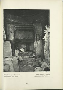 Aksum, interior of a dwelling.
